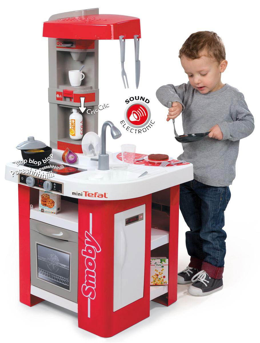 Smoby Игровой набор Кухня Tefal Studio цвет красный серый