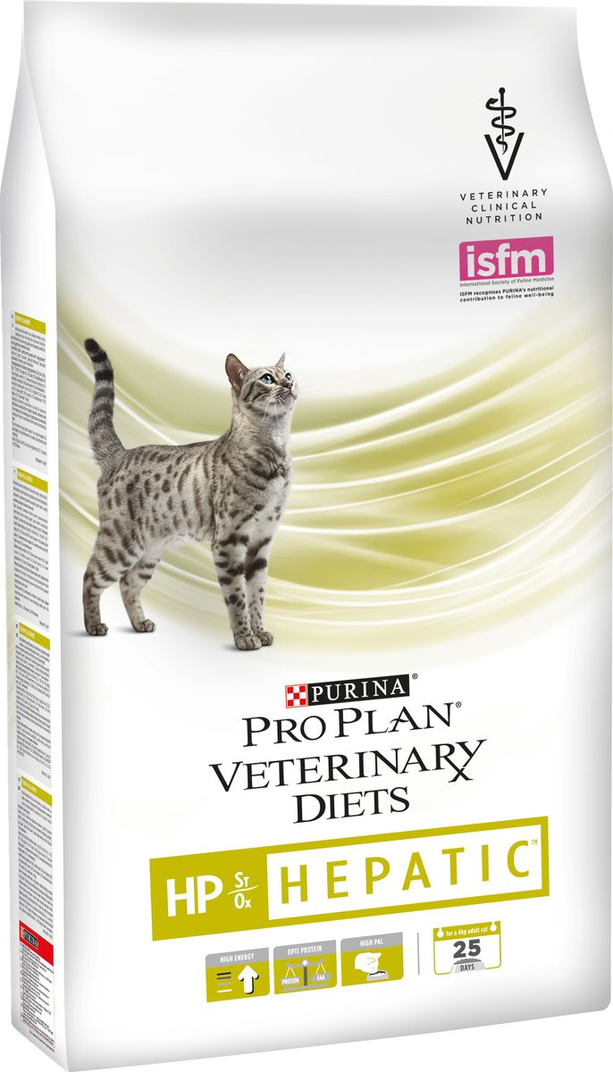 "Корм сухой Pro Plan ""Veterinary Diets. HP"" для кошек, при заболеваниях печени, 1,5 кг"