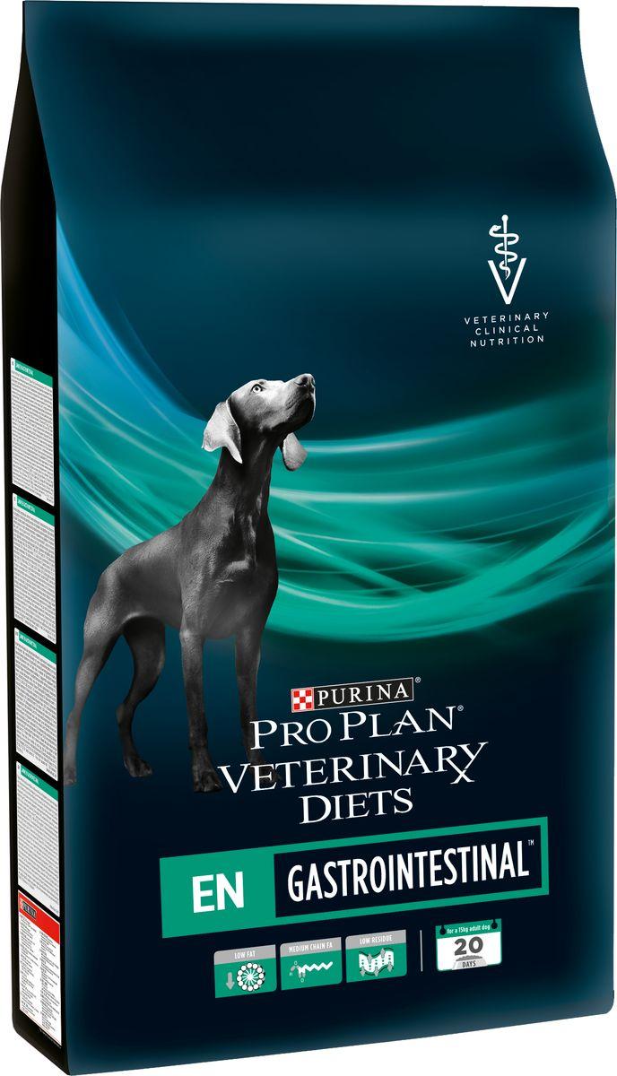 Корм сухой Pro Plan Veterinary Diets. EN для собак, при расстройствах ЖКТ, 5 кг корм для собак pro plan athletic для крупных пород курица сух 14кг