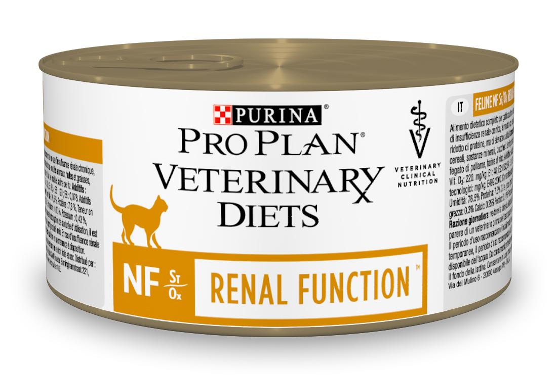 Консервы PurinaPro Plan Veterinary Diets. NF, для кошек, при патологии почек, 195 г12275867Purina Pro Plan Veterinary Diets. NF- консервированный полнорационный диетический кормдля взрослых кошек при патологии почек. Рекомендован для поддержания функции почек при хронической почечной недостаточности, с ограниченным уровнем высококачественного белка и фосфора. Рекомендуемая начальная продолжительность кормления: до 6 месяцев. Перед использованием и увеличением периода кормления сверх рекомендованного проконсультируйтесь с ветеринаром. При временной почечной недостаточности рекомендуемый период кормления - от 2 до 4 недель.Ограничение фосфатов в корме помогает поддерживать функции почек в случае хронической почечной недостаточности, способствуют замедлению прогрессирования хронической почечной недостаточности.Ограниченное содержание высококачественного белка помогает минимизировать образование уремических токсинов. Высокие вкусовые качества помогают для поддержания аппетита и долгосрочного употребления.Формула ST/OX для мочевой системы: разработана, чтобы помочь минимизировать риск заболеваний мочевыделительной системы.Состав: мясо и мясные субпродукты, масла и жиры, злаки, минеральные вещества, сахара, витамины. Источники белка: свиная печень, индейка, сердце и печень птицы, рисовая мука.