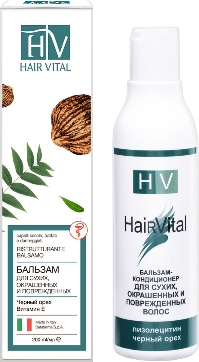Hair Vital Бальзам-кондиционер для сухих, окрашенных и поврежденных волос, 200 мл концентрированный кондиционер жизненный протеин artero protein vital 100 мл