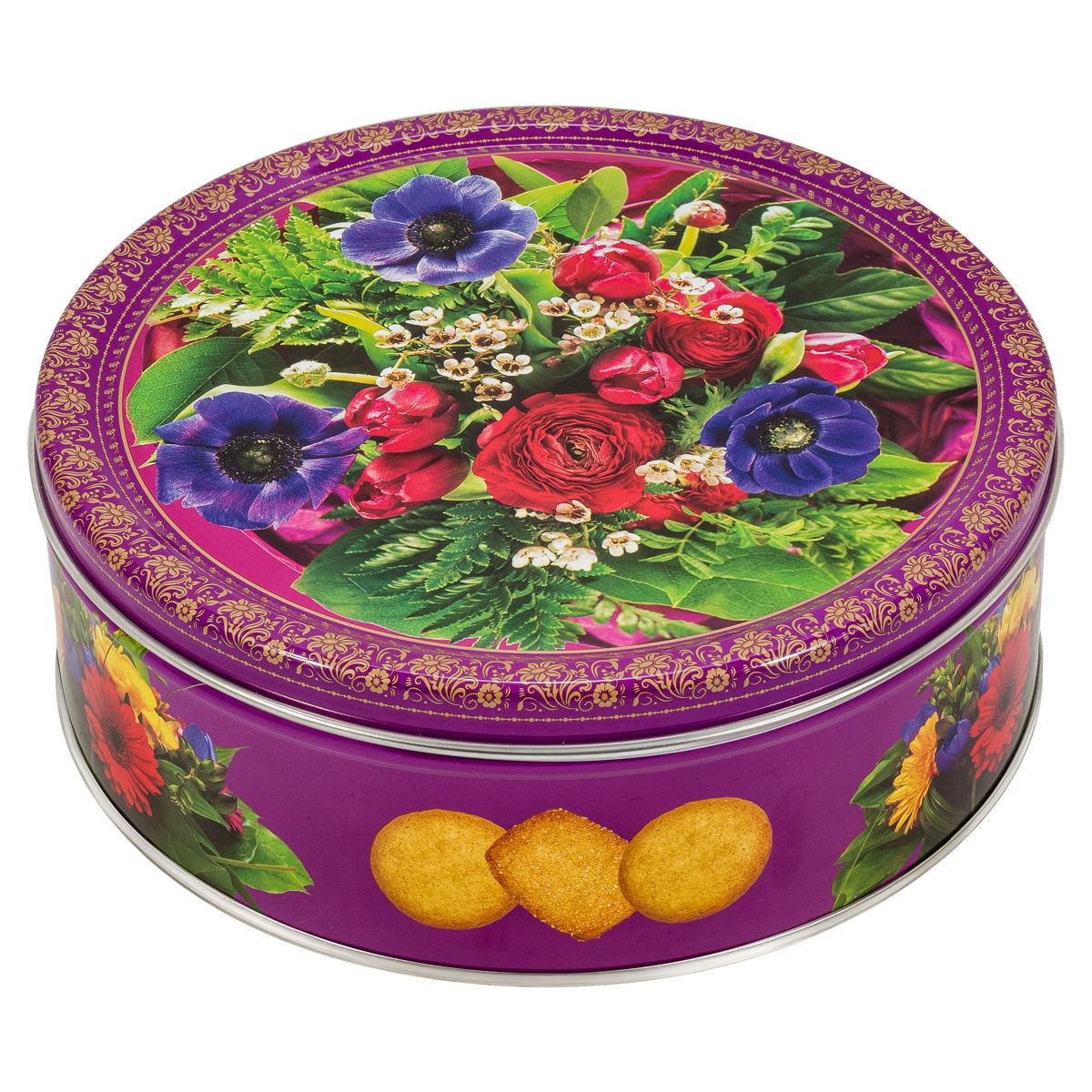Monte Christo Букет в лиловых тонах печенье сдобное, 400 г, в ассортименте сладкая сказка новогодний календарь снегурочка 75 г