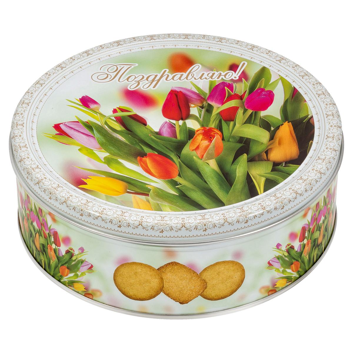 Monte Christo Тюльпаны печенье со сливочным маслом, 400 г сладкая сказка печенье дед мороз и снегурочка 400 г