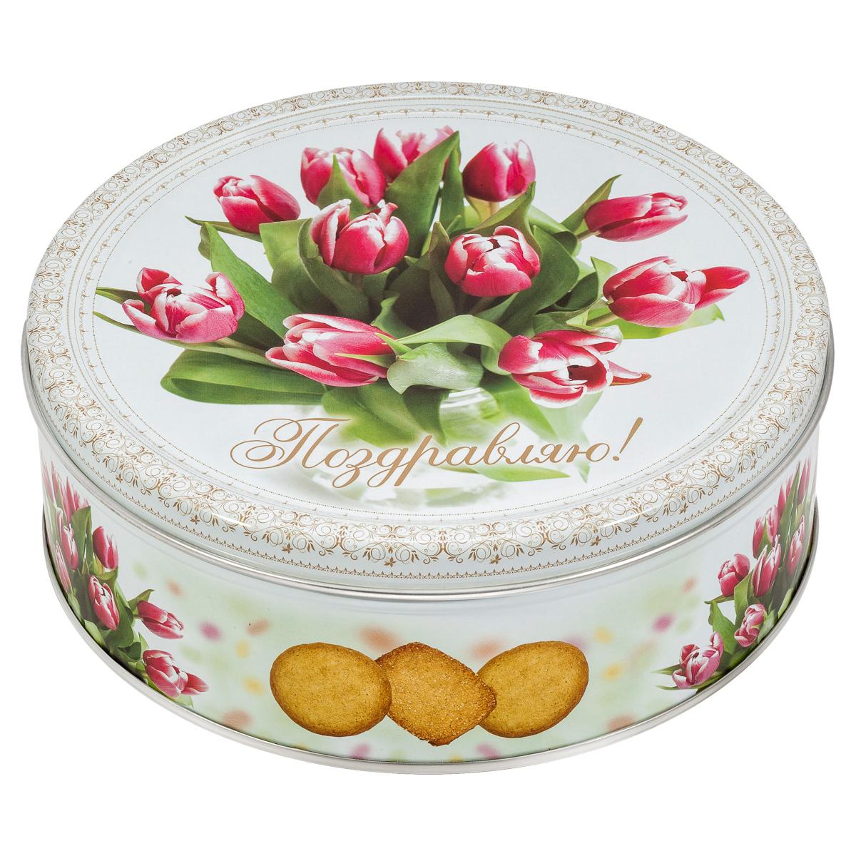 Monte Christo Тюльпаны печенье со сливочным маслом, 400 г monte christo русские узоры хохлома печенье сдобное со сливочным маслом черный 400 г