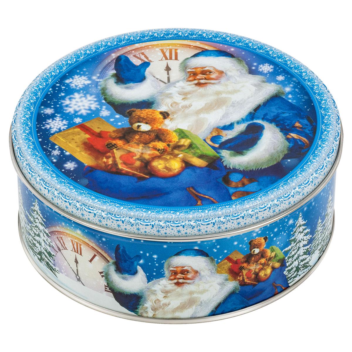 Сладкая Сказка Печенье в подарочной новогодней синей банке, 150 г сладкая сказка печенье зимний вечер 400 г