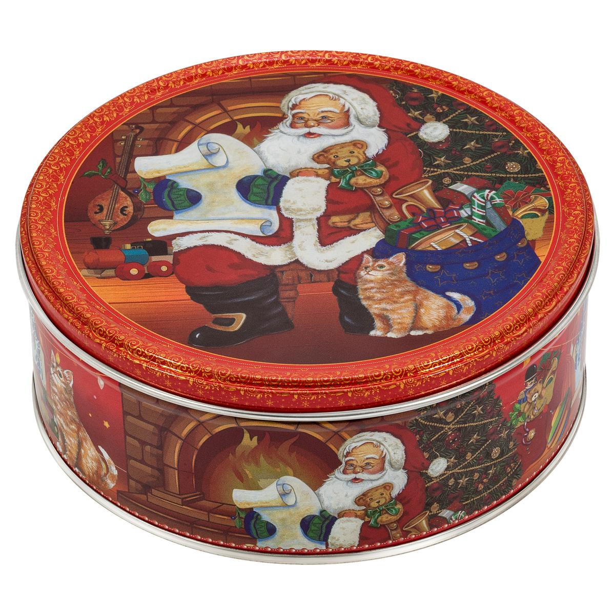 Сладкая Сказка Печенье в подарочной новогодней красной банке, 150 г набор вкусная помощь я люблю 4 х 50 мл