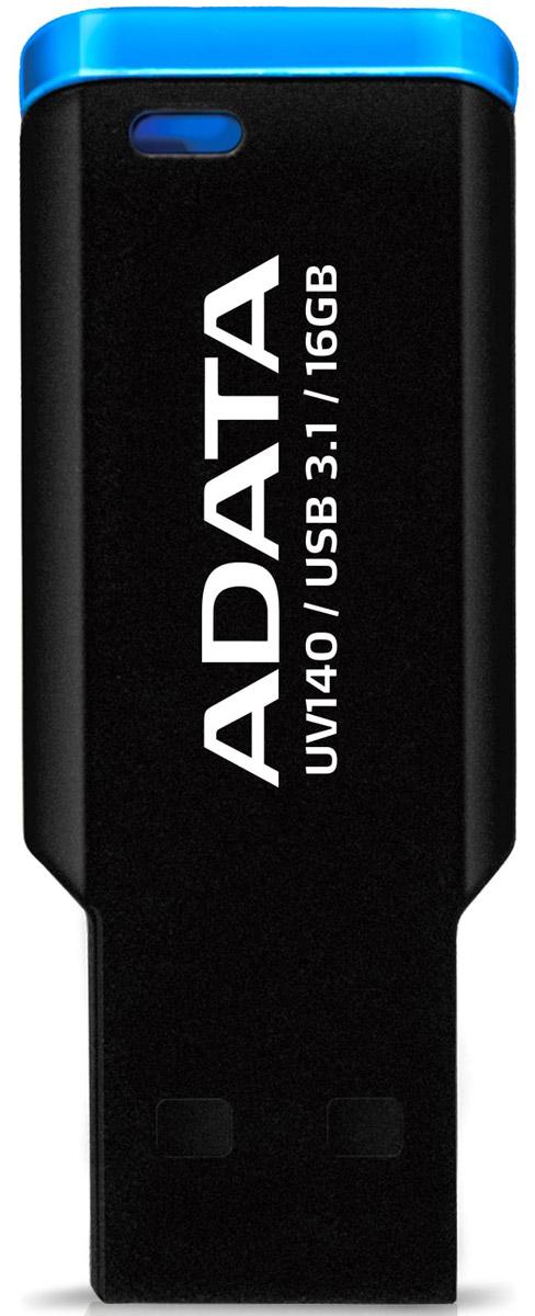 ADATA UV140 16GB, Black Blue USB-накопитель23322Оснащенная уникальной мини-застежкой и выпускаемая в компактном корпусе без крышки с высокоскоростнымразъемом USB 3.1, сверхлегкая флэшка ADATA UV140 весьма эффективна, удобна и проста в использовании. Сфлэшкой UV140 у вас начнется совершенно другая жизнь!Удобный накопитель с застежкойUV140 сверху оборудована мини-застежкой и может легко пристегиваться к папкам, книгам, ремешкам и к чемуугодно. Компактная и удобная флэшка UV140 – это аксессуар для успешных людей. Удобный для переноски безколпачковый дизайн с отверстием для шнуркаБезколпачковый дизайн UV140 означает, что вам не придется беспокоиться о потере крышки. Через отверстиена конце флэшки UV140 ее можно прикрепить к брелоку для ключей, и она станет удобным спутником вашейжизни.Легкая и компактная, качественная и универсальнаяМатовое покрытие корпуса UV140 — немаркое и нецарапаемое. Это компактное, легко пристегивающееся иотстегивающееся устройство имеет длину всего 4,3 мм и ширину 8 мм.Флэшка UV140 оснащена USB-разъемом, отвечающим требованиям высокоскоростного стандарта USB 3.1,который обеспечивает высокие скорости передачи и полностью совместим со стандартом USB 2.0. Выпускаютсямодели UV140 емкостью в 16 ГБ, 32 ГБ и 64 ГБ для более полного удовлетворения ваших потребностей внакопителях с различным объемом памяти.Интерфейс: USB 3.1 (обратно совместим с USB 2.0) Системные требования: Windows 2000/XP/Vista/7/8/8.1/10Mac OS X 10.6 (и выше) Linux Kernel 2.6 (и выше)