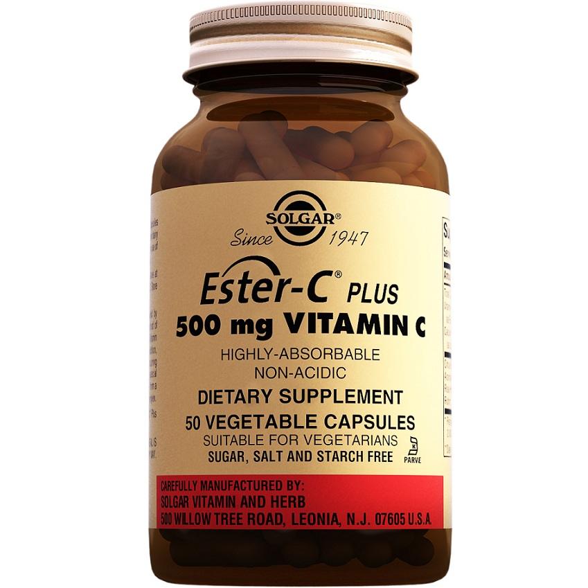 Эстер-С плюс Солгар, с витамином С, капсулы 500 мг, №50 солгар витамин с 500мг с малиновым вкусом 90 таблетки
