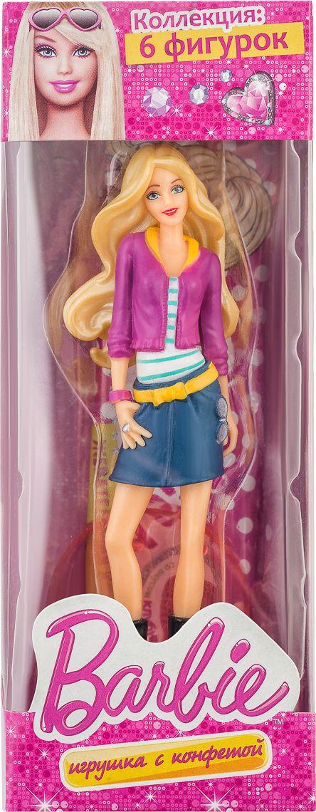 Barbie жевательная конфета с игрушкой, 22 г конфеты шоколадные kinder choco bons 125 г