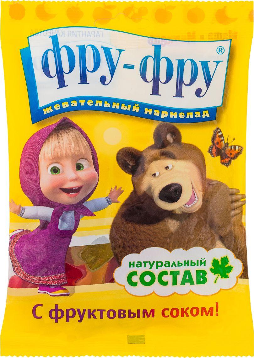 Фру-Фру Маша и Медведь Буквы жевательный мармелад, 100 г sweet box пони на ладони мармелад жевательный с игрушкой 10 г