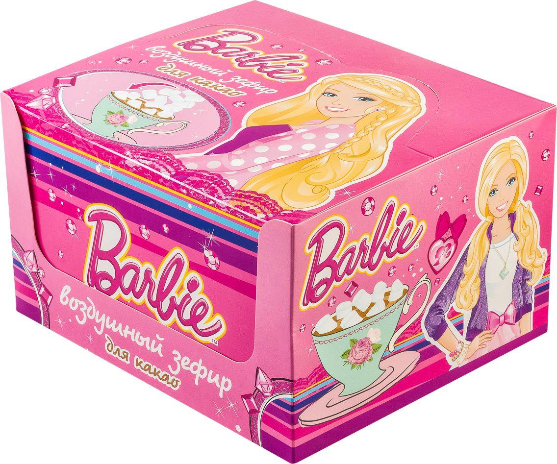 Зефирюшки Barbie воздушный зефир для для какао, 360 г (24 шт) воздушный зефир зефирюшки для десертов 125 г