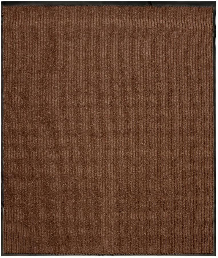Коврик придверный Paterra Ребристый, цвет: коричневый, 120 х 150 см408-057Придверный коврик ребристый Paterra - отличная защита вашего дома от грязи, а так же прекрасное украшение интерьера. Верхняя часть коврика выполнена из полиэстера, а нижняя выполнена из ПВХ. Благодаря премиальному верхнему покрытию, коврик легко чистится и долго служит.