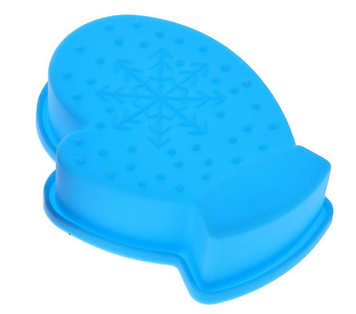 Форма для выпечки Доляна Новый год, цвет: голубой, 10 х 7 х 2,5 см1116695_голубой