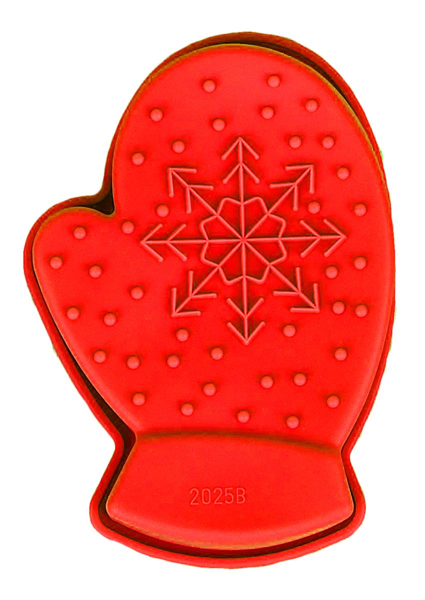 Форма для выпечки Доляна Новый год, цвет: красный, 10 х 7 х 2,5 см Дед Мороз1116695_красный, Дед Мороз