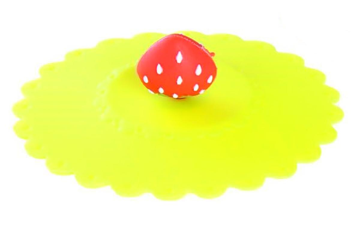 Крышка Доляна Клубничка, цвет: желтый, 11 см1166889_желтыйКрышка Доляна Клубничка станет незаменимым помощником любой современной хозяйки! Она выполнена из безопасного пищевого силикона, устойчивого к температурам от -40 до +250 градусов. Изделие не впитывает посторонние запахи, удобно в транспортировке и хранении. Яркие света и необычная форма ручки привлекут внимание любого посетителя вашей кухни, а вам поможет не потерять крышку среди остальной посуды.Диаметр крышки: 11 см.