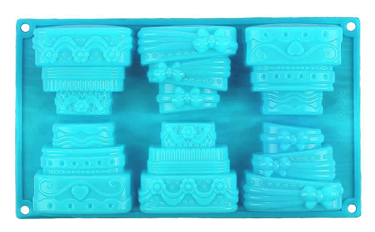 Форма для выпечки Доляна Торты, цвет: голубой, 29,5 х 17 х 4 см, 6 ячеек1687489_голубойФорма для выпечки из силикона - современное решение для практичных и радушных хозяек. Оригинальный предмет позволяет готовить в духовке любимые блюда из мяса, рыбы, птицы и овощей, а также вкуснейшую выпечку.Преимущества формы для выпечки: - блюдо сохраняет нужную форму и легко отделяется от стенок после приготовления; - высокая термостойкость (от -40 до 230° C) позволяет применять форму в духовых шкафах и морозильных камерах; - небольшая масса делает эксплуатацию предмета простой даже для хрупкой женщины; - силикон пригоден для посудомоечных машин; - высокопрочный материал делает форму долговечным инструментом; - при хранении предмет занимает мало места. Советы по использованию формы: перед первым применением промойте предмет теплой водой. В процессе приготовления используйте кухонный инструмент из дерева, пластика или силикона. Перед извлечением блюда из силиконовой формы дайте ему немного остыть, осторожно отогните края предмета.