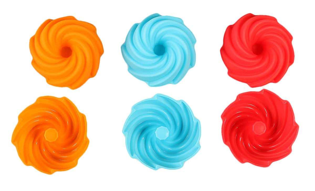 Набор форм для выпечки Доляна Заварное, цвет: красный, голубой, оранжевый, 7,5 х 4 х 3,5 см, 6 шт1057120_красный, голубой, оранжевыйФормы для выпечки из силикона - современное решение для практичных и радушных хозяек. Оригинальный предмет позволяет готовить в духовке любимые блюда из мяса, рыбы, птицы и овощей, а также вкуснейшую выпечку.Почему это изделие должно быть на кухне?- блюдо сохраняет нужную форму и легко отделяется от стенок после приготовления;- высокая термостойкость (от -40 до 230 градусов) позволяет применять форму в духовых шкафах и морозильных камерах;- небольшая масса делает эксплуатацию предмета простой даже для хрупкой женщины;- силикон пригоден для посудомоечных машин;- высокопрочный материал делает форму долговечным инструментом;- при хранении предмет занимает мало места.