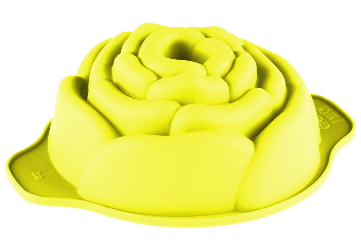 Форма для выпечки Доляна Роза, цвет: желтый, 15,5 х 12,5 х 5 см1166842_желтыйФорма для выпечки из силикона — современное решение для практичных и радушных хозяек.Почему это изделие должно быть на кухне? - блюдо сохраняет нужную форму и легко отделяется от стенок после приготовления; - высокая термостойкость (от –40 до 230 градусов) позволяет применять форму в духовых шкафах и морозильных камерах; - небольшая масса делает эксплуатацию предмета простой даже для хрупкой женщины; - силикон пригоден для посудомоечных машин; - высокопрочный материал делает форму долговечным инструментом; - при хранении предмет занимает мало места.