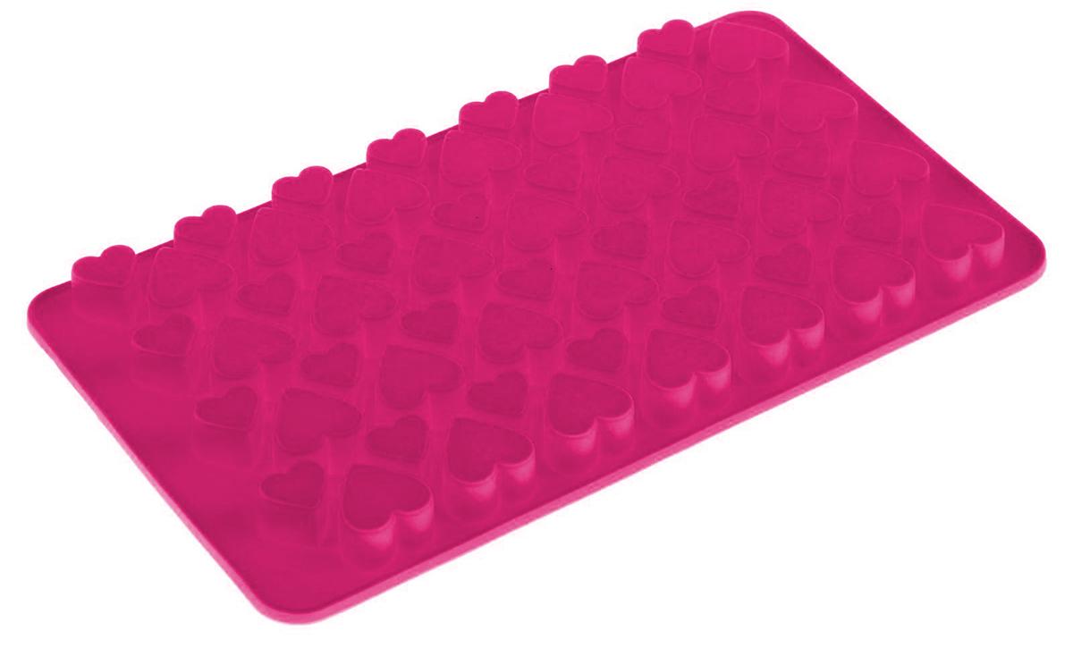 Форма для мармелада Доляна Сердечки, цвет: розовый, 56 ячеек, 19,5 х 11,5 х 1,5 см1403928Силикон не теряет эластичности при отрицательных температурах (до - 40°С), поэтому, готовые льдинки легко достаются из формы и не крошатся. Лед получается идеальной формы. С силиконовыми формами для льда легко фантазировать и придумывать новые рецепты. В формах можно заморозить сок или приготовить мини порции мороженого, желе, мармелада, шоколада или другого десерта. Особенно эффектно выглядят льдинки с замороженными внутри ягодами или дольками фруктов. Заморозив настой из трав, можно использовать его в косметологических целях.
