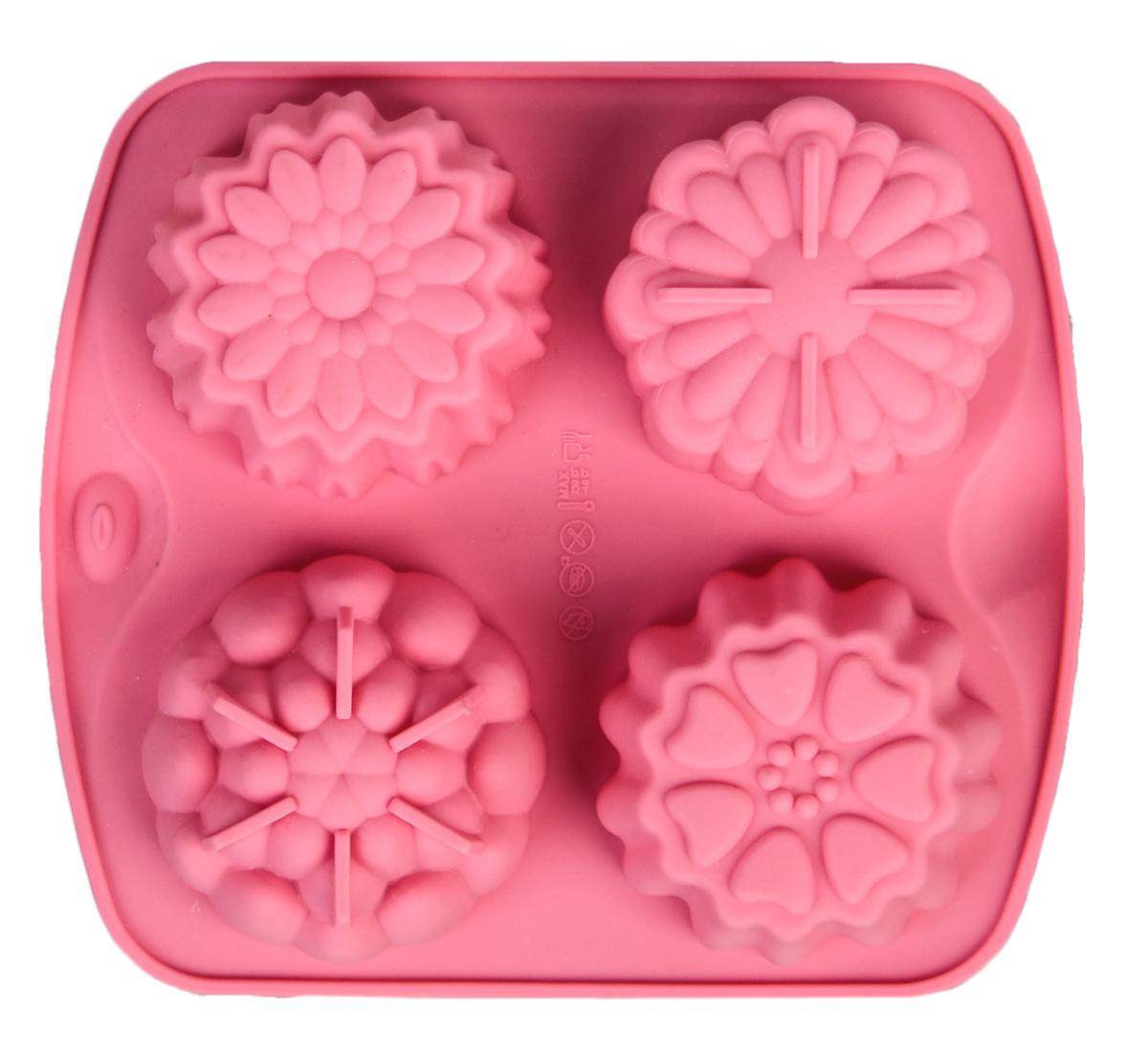 Форма для выпечки Доляна Кексик, цвет: розовый, 16 х 14 см, 4 ячейки114006Форма для выпечки из силикона — современное решение для практичных и радушных хозяек. Почему это изделие должно быть на кухне?-блюдо сохраняет нужную форму и легко отделяется от стенок после приготовления;высокая термостойкость (от –40 до 230 градусов) позволяет применять форму в духовых шкафах и морозильных камерах;-небольшая масса делает эксплуатацию предмета простой даже для хрупкой женщины;-силикон пригоден для посудомоечных машин;-высокопрочный материал делает форму долговечным инструментом;-при хранении предмет занимает мало места.