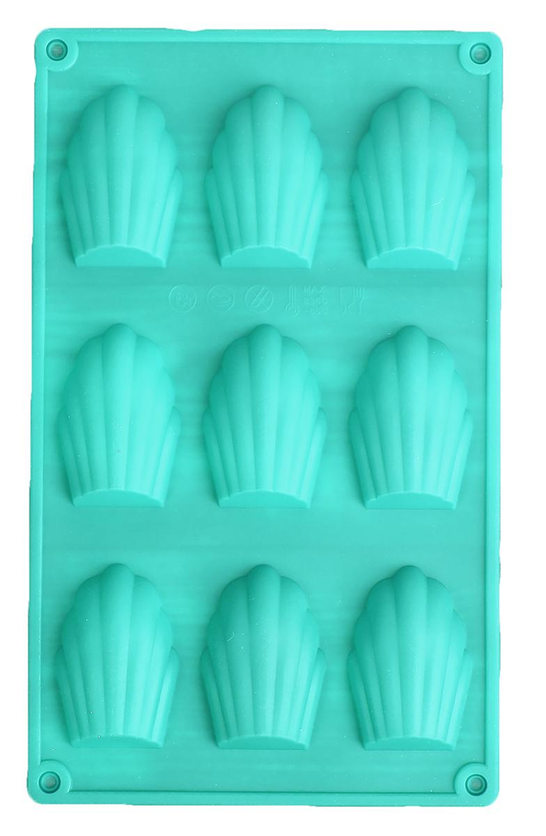 Форма для выпечки Доляна Ракушки, цвет: голубой, 29,5 х 17 х 2 см, 9 ячеек1687518_голубойФорма для выпечки из силикона - современное решение для практичных и радушных хозяек. Блюдо сохраняет нужную форму и легко отделяется от стенок после приготовления. Форма обладает высокой термостойкостью (от -40 до 230 градусов), что позволяет применять ее в духовых шкафах и морозильных камерах; небольшая масса делает эксплуатацию предмета простой; силикон пригоден для посудомоечных машин; высокопрочный материал делает форму долговечным инструментом; при хранении предмет занимает мало места.