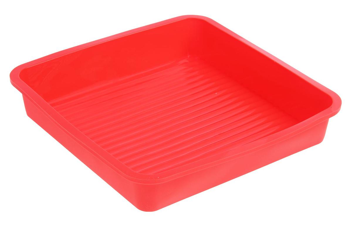Форма для выпечки Доляна Квадрат, цвет: красный, 23 х 23 х 3,5 см651944_красный_красныйФорма для выпечки из силикона - современное решение для практичных и радушных хозяек.Оригинальный предмет позволяет готовить в духовке любимые блюда из мяса, рыбы, птицы иовощей, а также вкуснейшую выпечку. Почему это изделие должно быть на кухне? - блюдо сохраняет нужную форму и легко отделяется от стенок после приготовления; - высокая термостойкость (от -40°C до 230°C) позволяет применять форму в духовых шкафах иморозильных камерах; - небольшая масса делает эксплуатацию предмета простой даже для хрупкой женщины; - силикон пригоден для посудомоечных машин; - высокопрочный материал делает форму долговечным инструментом; - при хранении предмет занимает мало места. Советы по использованию формы: Перед первым применением промойте предмет теплой водой. В процессе приготовления используйте кухонный инструмент из дерева, пластика или силикона.Перед извлечением блюда из силиконовой формы дайте ему немного остыть, осторожноотогните края предмета. Готовьте с удовольствием!