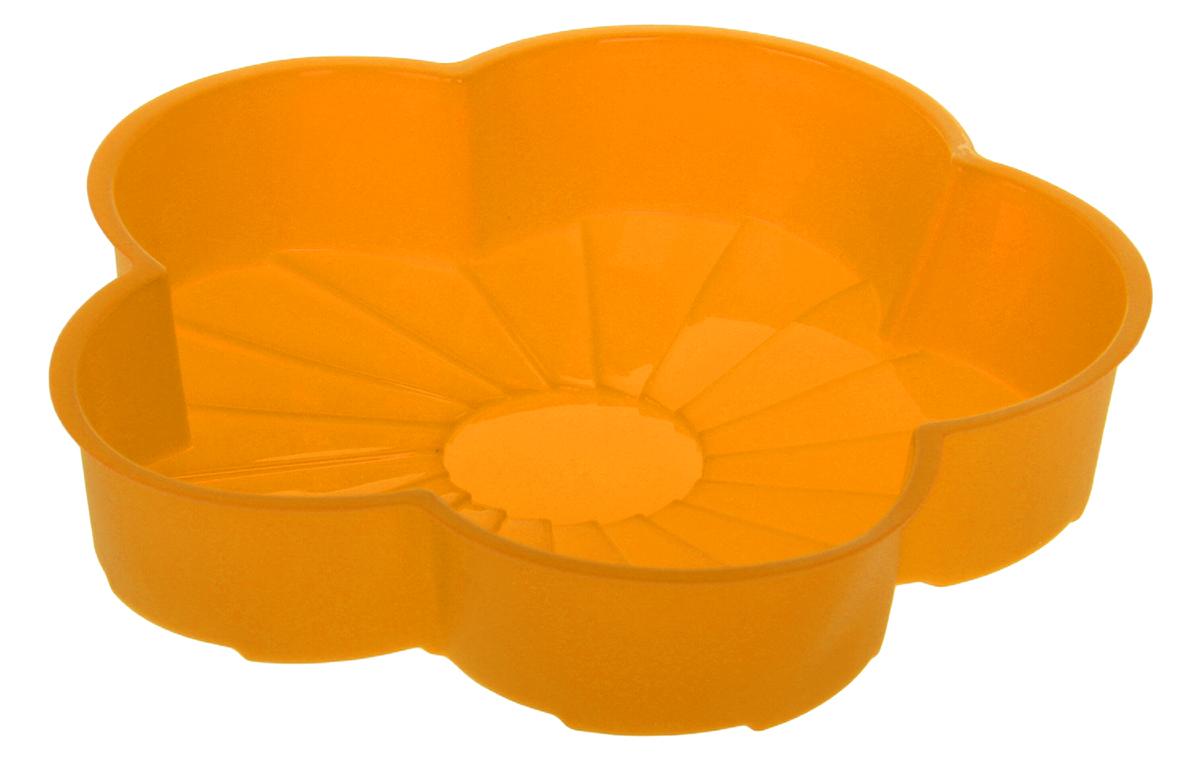 Форма для выпечки Доляна Цветик, силиконовая, цвет: оранжевый, 20 х 20 х 4,5 см114015_оранжевый_оранжевыйФорма Доляна Цветик, выполненная из силикона, будет отличным выбором для всех любителей домашней выпечки.Силиконовые формы для выпечки имеют множество преимуществ по сравнению с традиционными металлическими формами и противнями. Нет необходимости смазывать форму маслом. Форма быстро нагревается, равномерно пропекает, не допускает подгорания выпечки с краев или снизу.Вынимать продукты из формы очень легко. Слегка выверните края формы или оттяните в сторону, и ваша выпечка легко выскользнет из формы.Материал устойчив к фруктовым кислотам, не ржавеет, на нем не образуются пятна.Форма может быть использована в духовках и микроволновых печах (выдерживает температуру от -40°С до +250°С), также ее можно помещать в морозильную камеру и холодильник. Можно мыть в посудомоечной машине.Размер формы: 20 х 20 х 4,5 см. Как выбрать форму для выпечки – статья на OZON Гид.