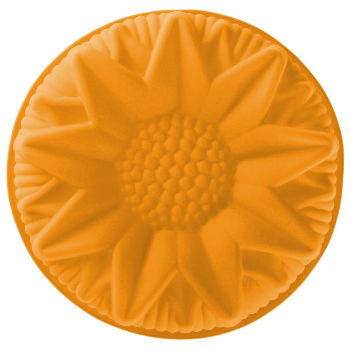 Форма для выпечки Доляна Подсолнух, цвет: оранжевый, 25 х 6 см1000382_оранжевый_оранжевыйФорма для выпечки из силикона - современное решение для практичных и радушных хозяек. Оригинальный предмет позволяет готовить в духовке любимые блюда из мяса, рыбы, птицы и овощей, а также вкуснейшую выпечку. Почему это изделие должно быть на кухне? блюдо сохраняет нужную форму и легко отделяется от стенок после приготовления; высокая термостойкость (от -40 до +230 градусов) позволяет применять форму в духовых шкафах и морозильных камерах; небольшая масса делает эксплуатацию предмета простой даже для хрупкой женщины; силикон пригоден для посудомоечных машин; высокопрочный материал делает форму долговечным инструментом; при хранении предмет занимает мало места. Советы по использованию формы: Перед первым применением промойте предмет тёплой водой. В процессе приготовления используйте кухонный инструмент из дерева, пластика или силикона. Перед извлечением блюда из силиконовой формы дайте ему немного остыть, осторожно отогните края предмета. Готовьте с удовольствием!