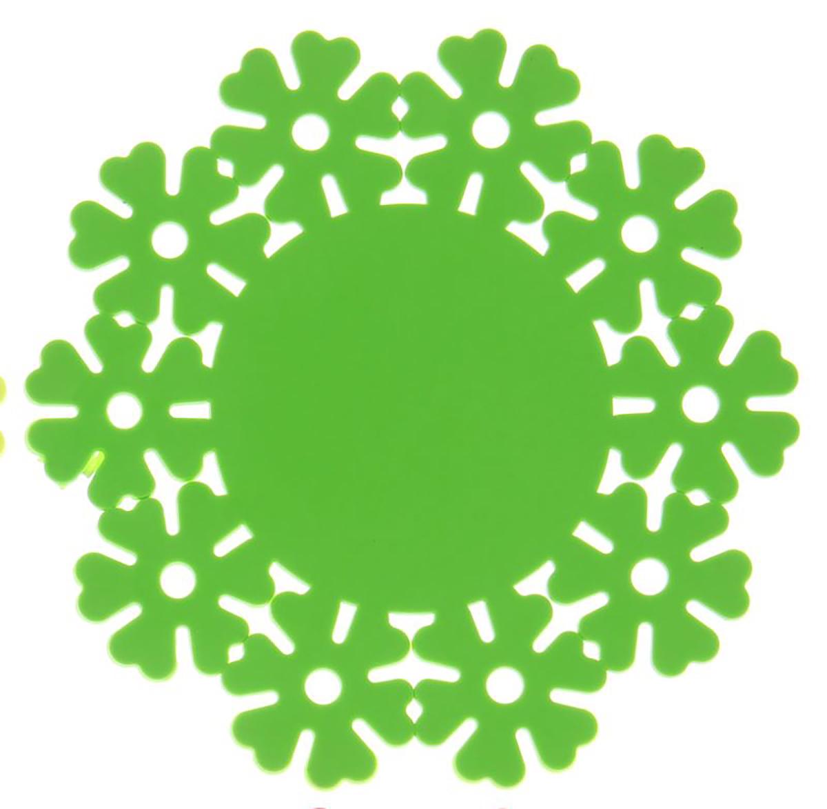 Подставка под горячее Доляна Цветик, цвет: зеленый, 20 см1264155_зеленыйСиликоновая подставка под горячее — практичный предмет, который обязательно пригодится в хозяйстве. Изделие поможет сберечь столы, тумбы, скатерти и клеёнки от повреждения нагретыми сковородами, кастрюлями, чайниками и тарелками.