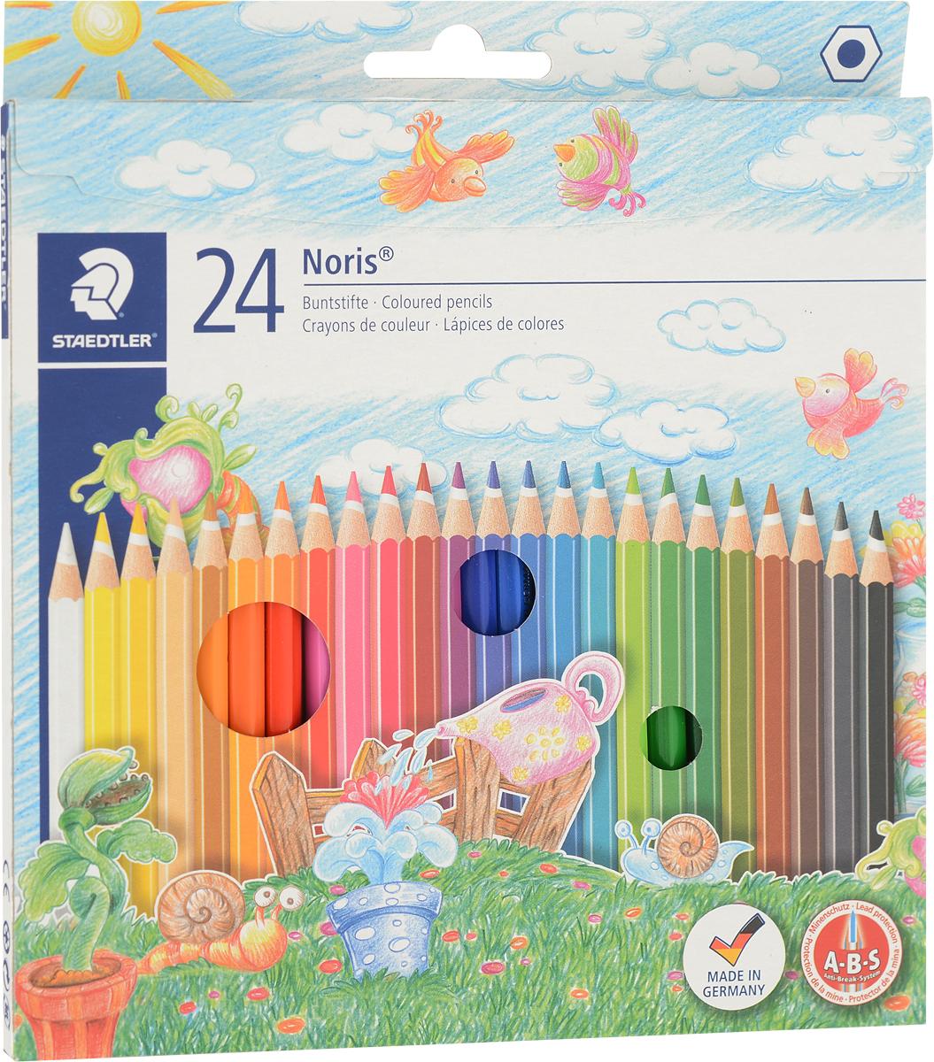 Staedtler Набор цветных карандашей Noris Club 24 цвета staedtler staedtler цветные карандаши noris club class pack 12 цветов