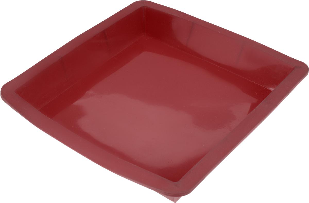 Форма для выпечки Calve, силиконовая, цвет: красный, 24 х 24 х 3,8 смCL-4602_красныйФорма для выпечки Calve выполнена из высококачественного 100% пищевого силикона. Идеально подходит для приготовления выпечки, десертов и холодных закусок. Форма выдерживает температуру от -40 до +240°C, обладает естественными антипригарными свойствами. Не выделяет вредных веществ при высоких температурах.Подходит для использования в духовке.