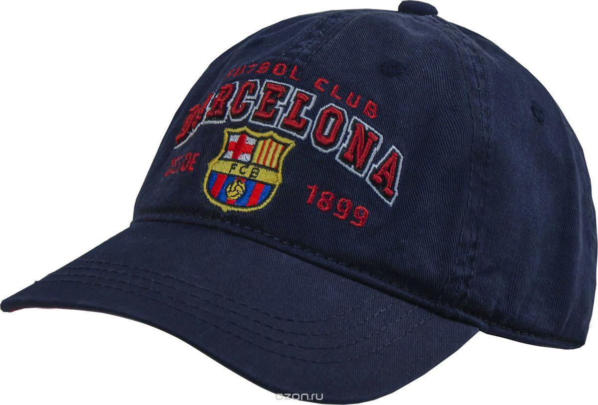 Бейсболка Atributika & Club Barcelona, цвет: темно-синий. 107710. Размер 55/58