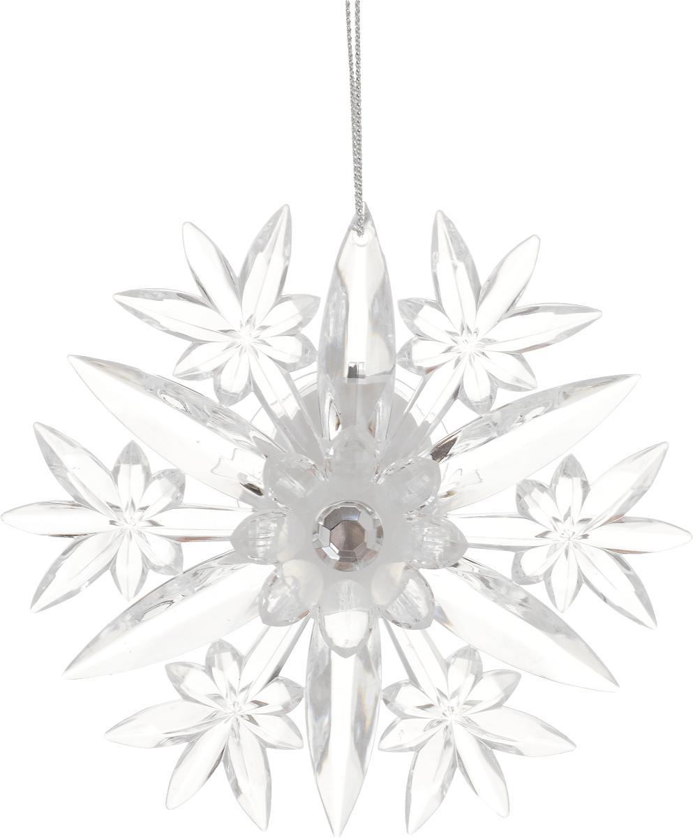 Украшение для интерьера новогоднее Erich Krause Снежинка, с подсветкой, на присоске, 11,5 см новогоднее украшение варежка с подсветкой ф21 2216
