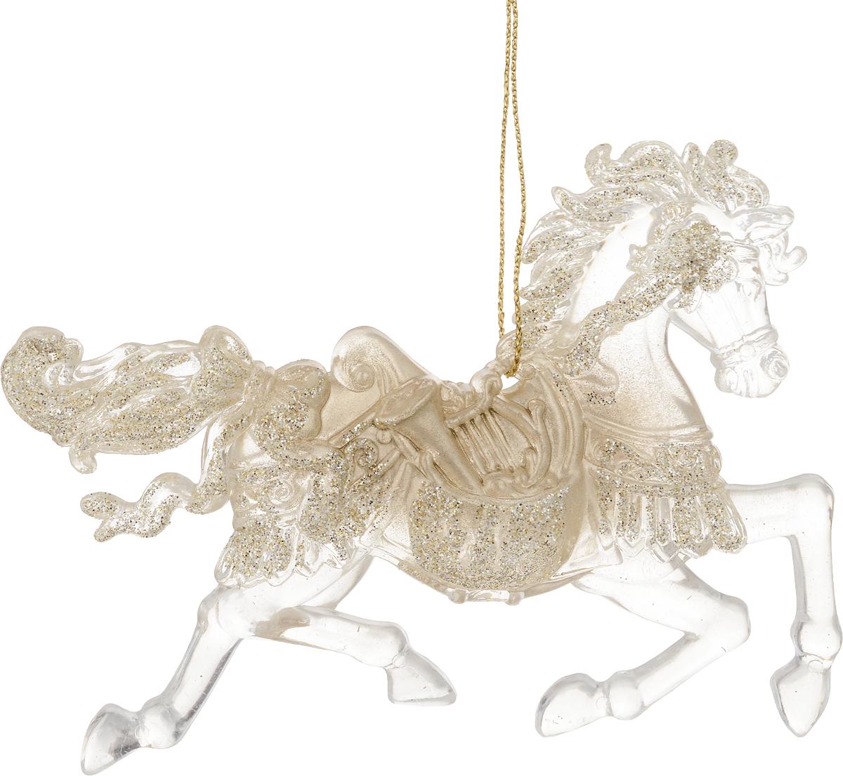 Украшение для интерьера новогоднее Erich Krause Конь златогривый, 12 см книги эксмо конь и его мальчик