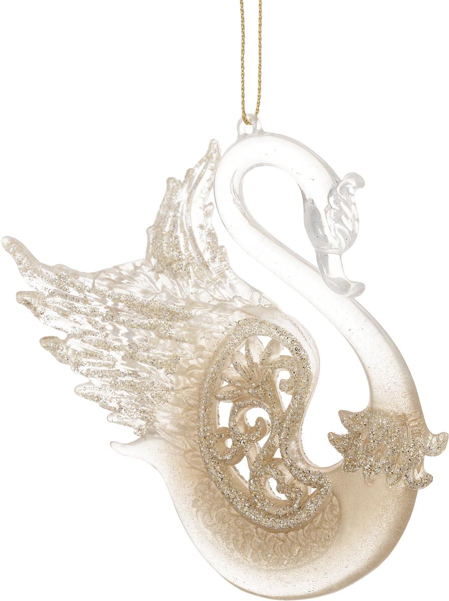 Украшение для интерьера новогоднее Erich Krause Царевна-Лебедь, 11 см38157Изящный лебедь выполнен из прозрачного пластика, в то время как его тело частично покрыто золотыми блестками. Фигурки животных всегда пользуются большой популярностью, и спрос на них является стабильно высоким. Новогодние украшения всегда несут в себе волшебство и красоту праздника. Создайте в своем доме атмосферу тепла, веселья и радости, украшая его всей семьей.