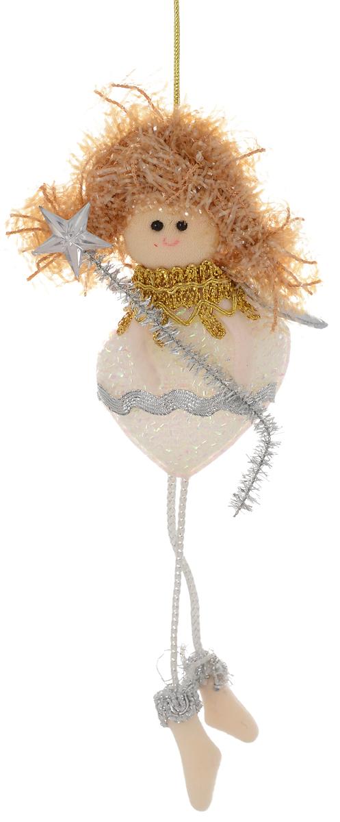 Новогоднее подвесное украшение Фея со звездочкой1381173Новогоднее украшение ручной работы отлично подойдет для декорации вашего дома и новогодней ели. С помощью специальной петельки украшение можно повесить в любом понравившемся вам месте. Но, конечно, удачнее всего оно будет смотреться на праздничной елке.Елочная игрушка - символ Нового года. Она несет в себе волшебство и красоту праздника. Такое украшение создаст в вашем доме атмосферу праздника, веселья и радости.