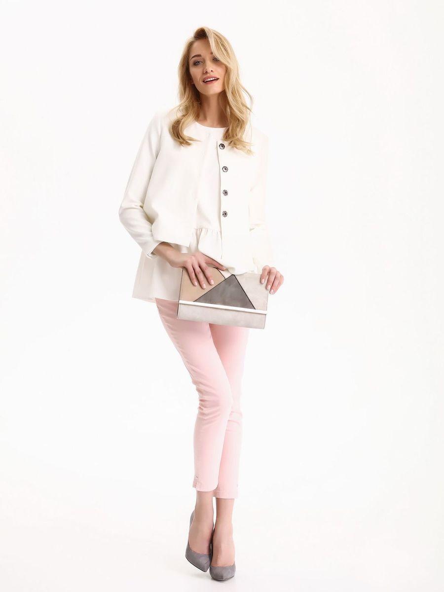 Блузка женская Top Secret, цвет: белый. SBW0333BI. Размер 38 (46)SBW0333BIБлузка женская Top Secret выполнена из хлопка и эластана. Модель с круглым вырезом горловины сзади завязывается на завязки.