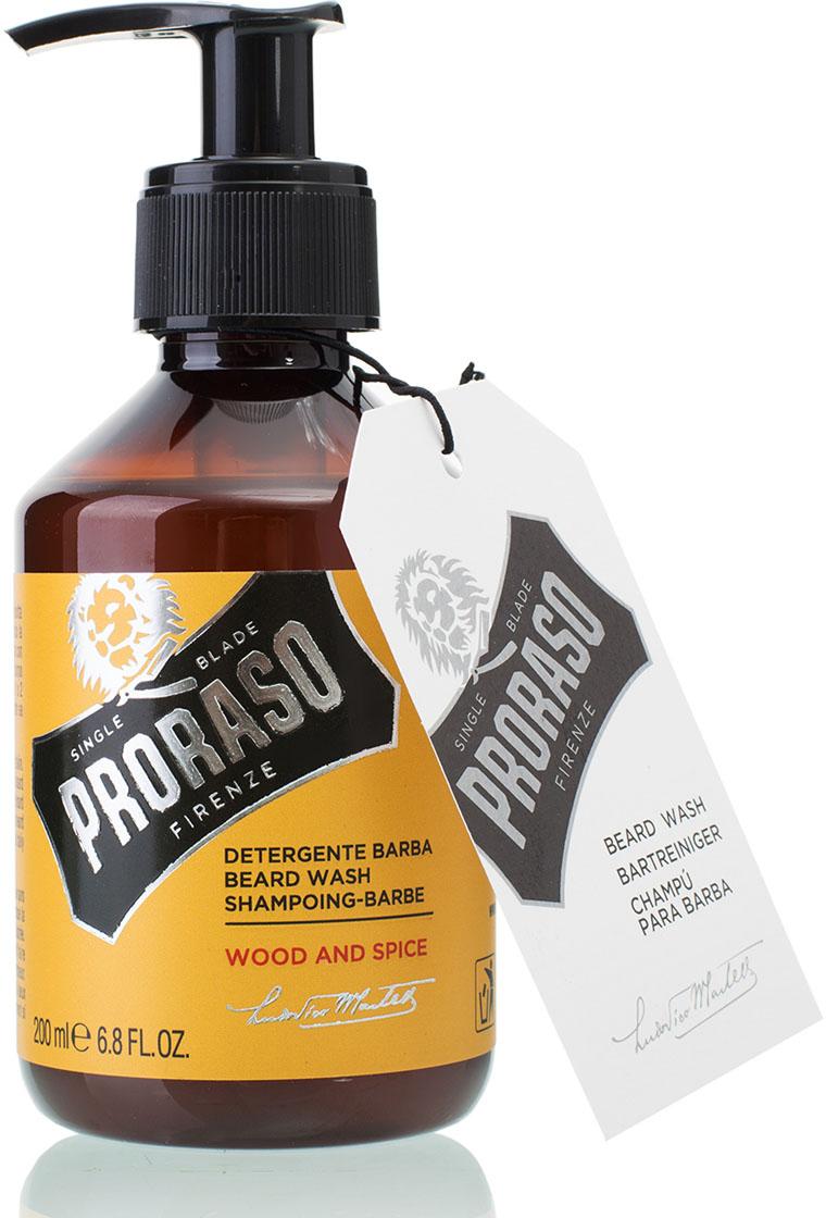 Proraso Шампунь для бороды Wood and Spice 200 мл proraso wood and spice cream крем для бритья 275 мл