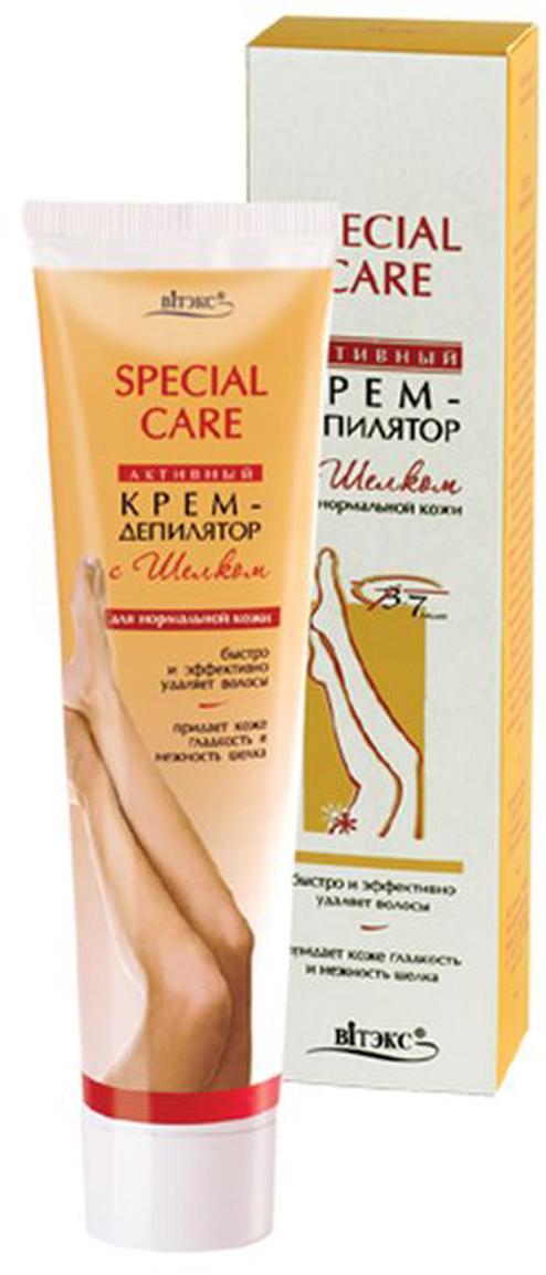 Витэкс Активный Крем-Депилятор с шелком для нормальной кожи, 120 млV-159Высокоэффективный крем-депилятор для быстрого удаления нежелательных волос. Протеины шелка, входящие в состав крема, увлажняют, питают и смягчают кожу во время депиляции.Уже через 3-4* минуты после нанесения крема Ваша кожа обретет нежность и гладкость шелка.