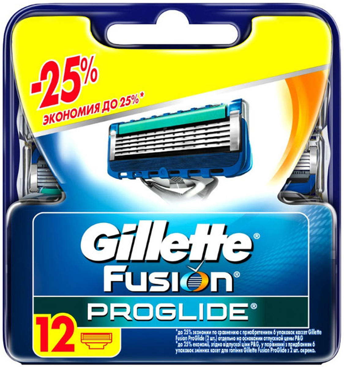 Сменные кассеты для бритья Gillette Fusion ProGlide, 12 шт