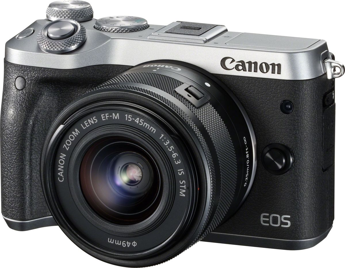 Canon EOS M6 Kit 15-45 IS STM, Silver цифровая фотокамера - Цифровые фотоаппараты