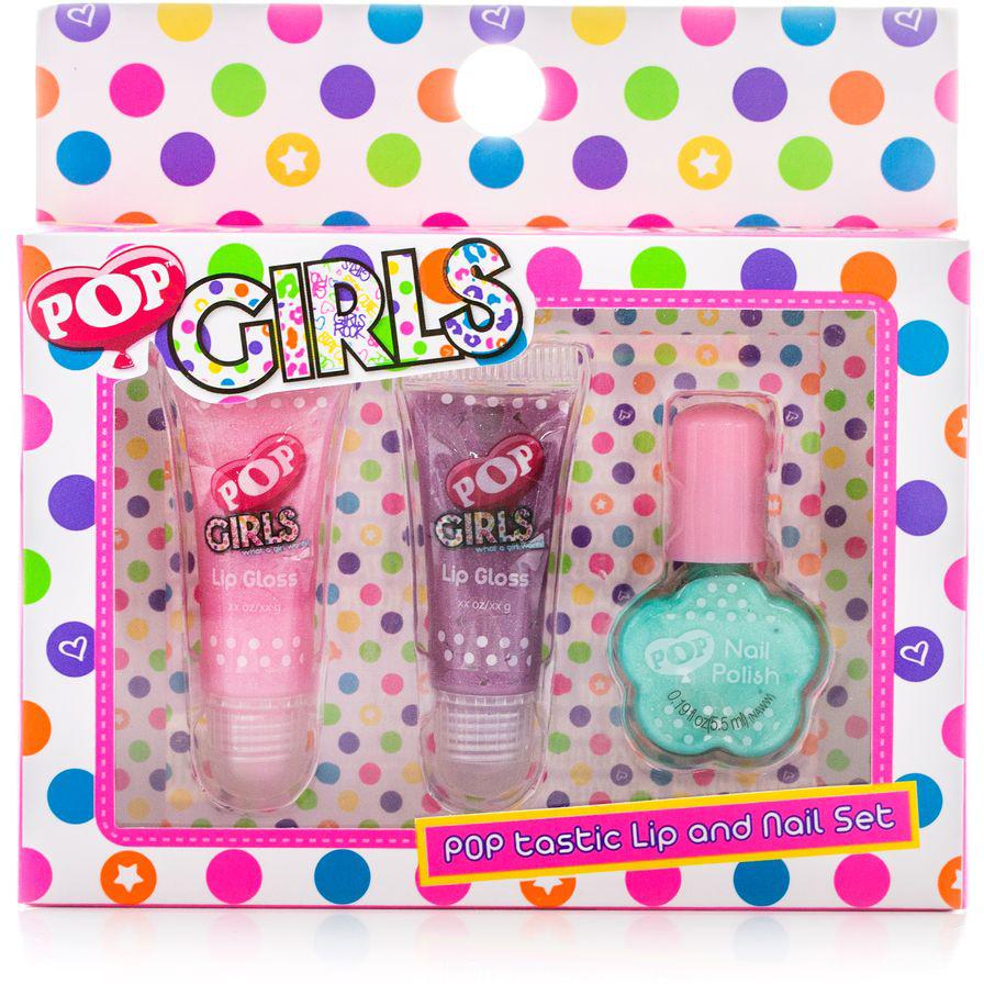 Markwins Игровой набор детской декоративной косметики для губ и ногтей POP