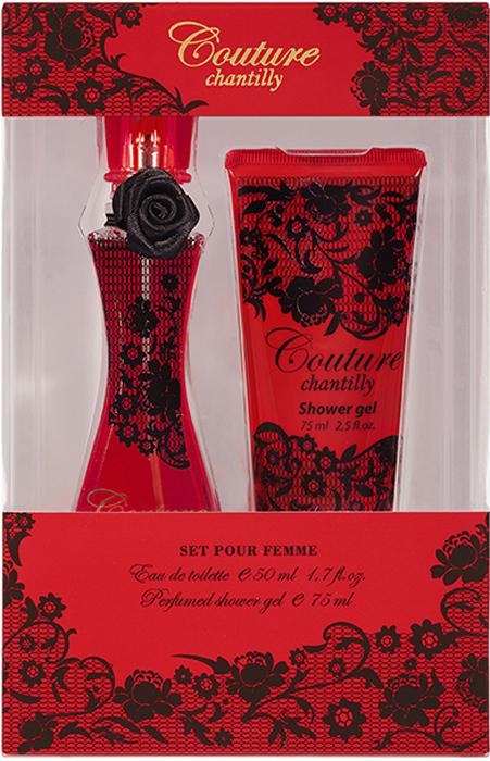 Apple Parfums Подарочный наборCouture Chantilly женский: туалетная вода, 50 мл, гель для душа 75мл42383Подарочный набор для женщин : туалетная вода 50мл, парфюмированный гель для душа 75мл. Аромат: цветочный