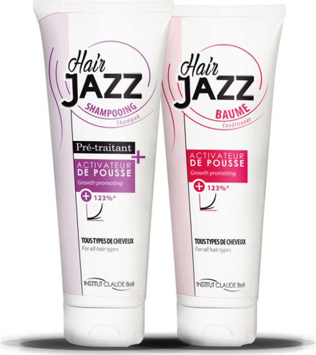 HairJAZZ Комплект для роста волос: шампунь, 250 мл и кондиционер, 250 мл1S1K250Средства HairJAZZ - это косметические средства для роста волос. Изготовлены во Франции. Не являются лекарственными средствами и не содержат гормонов. Натуральные активные компоненты формулы средств HairJAZZ, такие как соевый белок, экстракт яичной скорлупы, кератин, витамин B6, восстанавливая здоровье кожи головы и питая фолликулы, стимулируют рост волос. Факт ускорения роста волос при комплексном применении средств HairJAZZ подтвержден клиническими испытаниями.