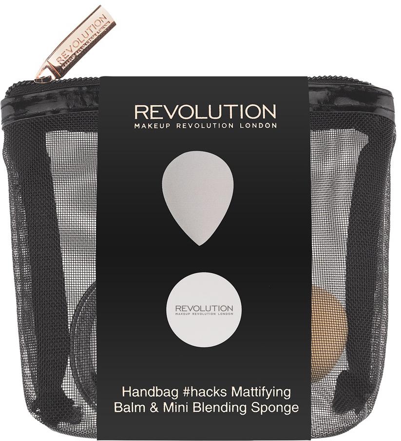 Makeup Revolution Набор для макияжа Handbag Hacks Mattifying Balm & Mini Blending Sponge the revolution mini 500