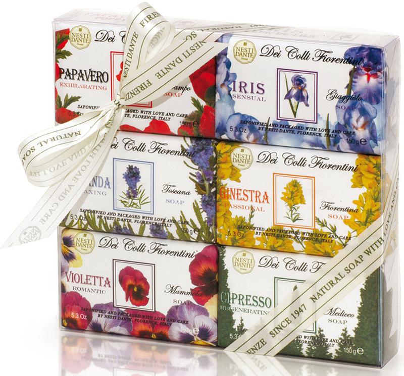 Nesti Dante Набор мыла Цветочная коллекция, 6 х 150 г