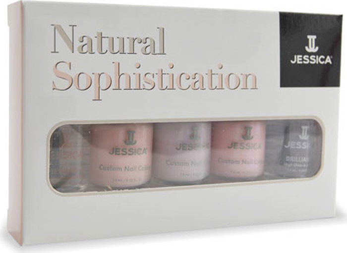 Jessica Набор лаков для маникюра Natural Sophistication Manicure Kit (5 лаков 7,4мл) jessica лак для ногтей hotter than hibiscus jessica custom nail colour upc 714 14 8 мл