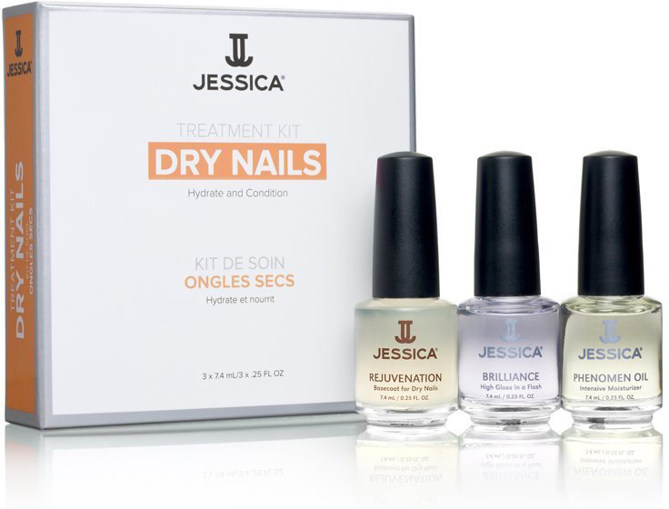 Jessica Набор для сухих ногтей Dry Nail Kit (Mini) Kit (Rejuvenation + Brilliance + Phenomen Oil) jessica лак для ногтей hotter than hibiscus jessica custom nail colour upc 714 14 8 мл