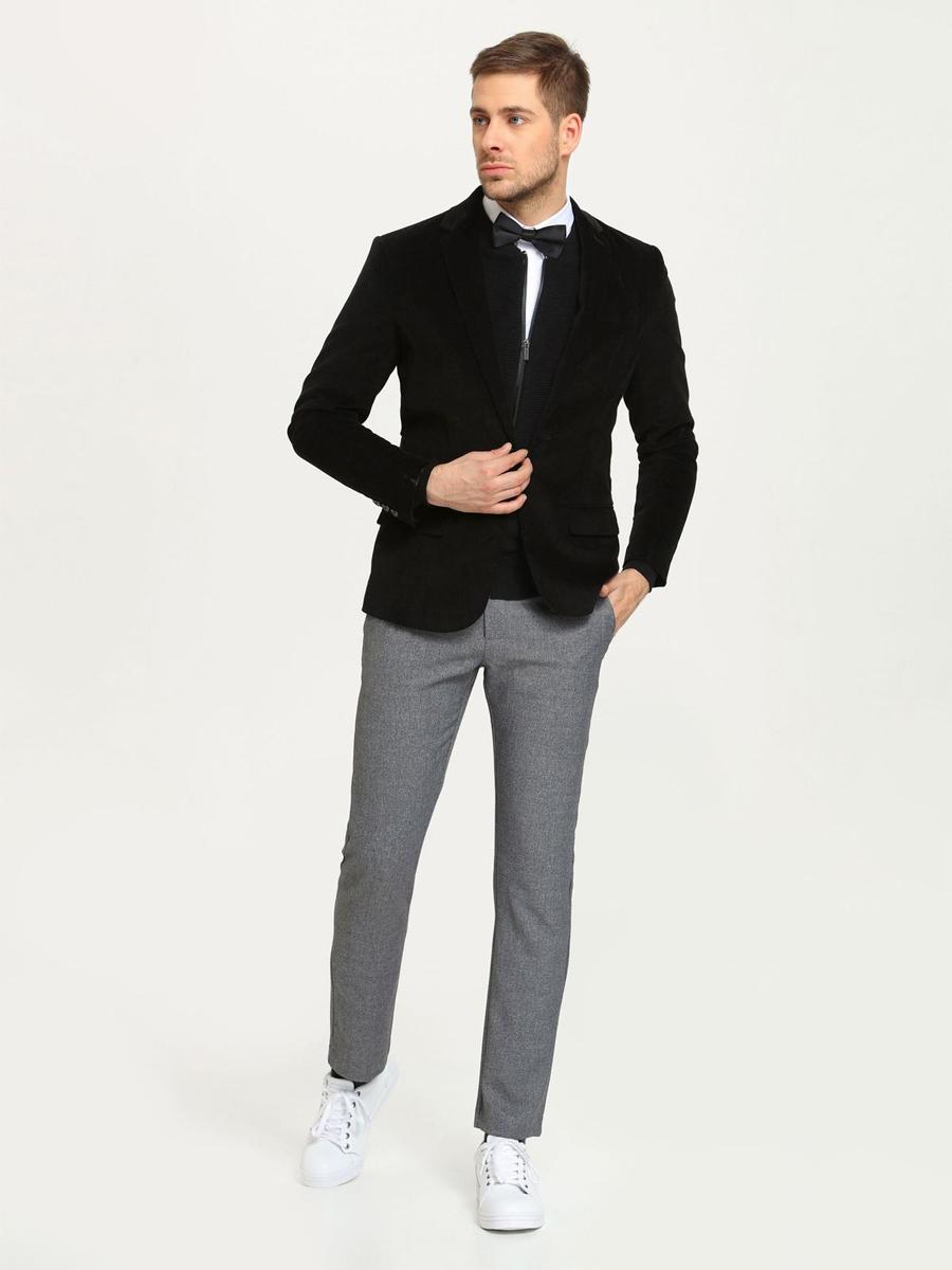 Купить Брюки мужские Top Secret, цвет: серый меланж. SSP2102SZ. Размер 32 (48)