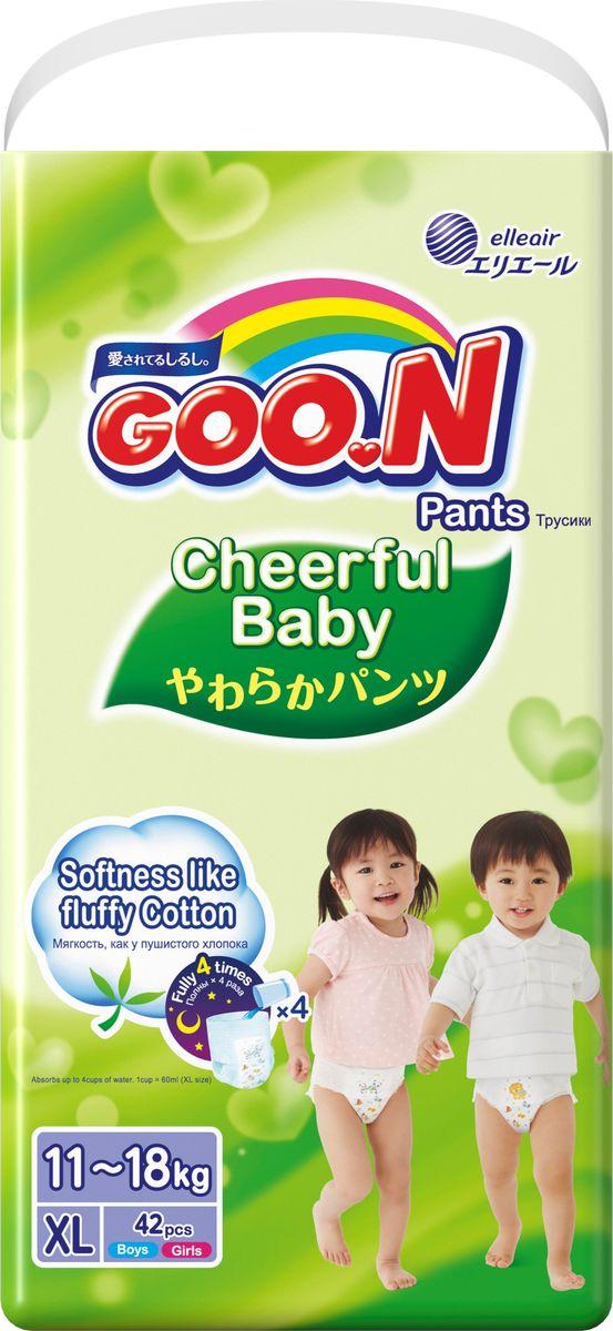 GOON Подгузники-трусики Cheerful XL 11-18 кг 42 шт -  Подгузники и пеленки